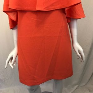 Trina Turk Dresses - Trina Turk Bright Orange Off the Shoulder Dress